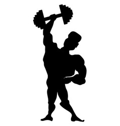 athlete with dumbbell vector image
