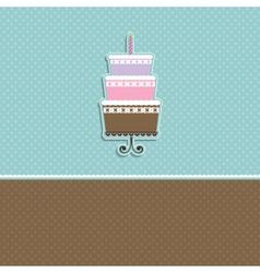 Cute cupcake card vector