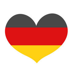 flag of germany in a heart shape icon flat style vector image