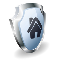 house shield concept vector image vector image