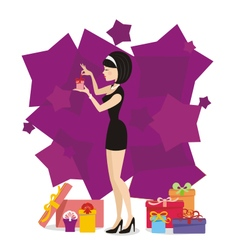 Present for woman 03 vector image vector image