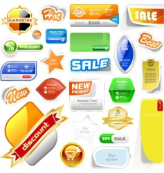 set of sale signs vector image