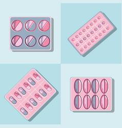 Set treatment pills to reduce illness vector