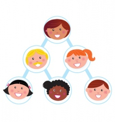 teamwork working team vector image vector image