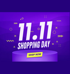 1111 shopping day sale poster or flyer design vector image