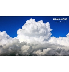 abstract cloud banner vector image