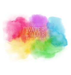 Abstract colorful watercolor brush for background vector