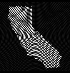 Abstract map california radial dots halftone vector
