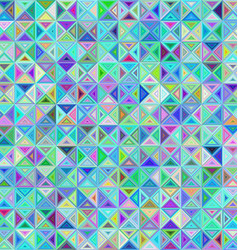 Abstract triangle mosaic background design vector