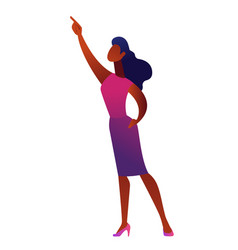 african american business woman pointing with vector image