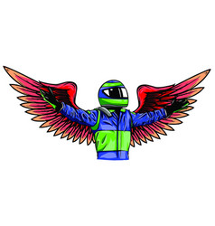 angel pilot man design draw vector image