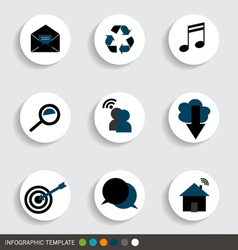 Application icons design vector image