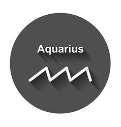 Aquarius zodiac sign flat astrology with long vector