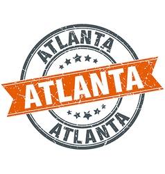 Atlanta red round grunge vintage ribbon stamp vector