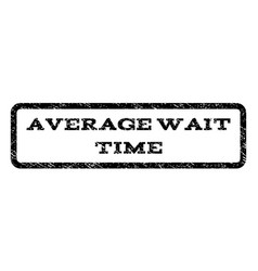 Average wait time watermark stamp vector