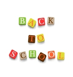 Back to school poster with blocks vector image