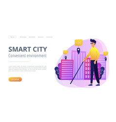 barrier-free environment and smart city concept vector image