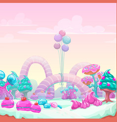 beautiful fantasy sweet world background vector image
