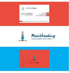 beautiful logo and business card vertical design vector image