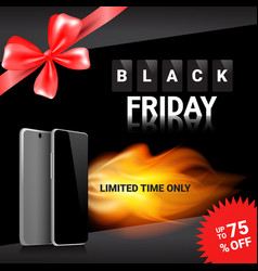 Black friday sale template banner discounts on vector