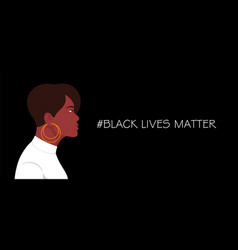 black lives matter african american woman in whit vector image