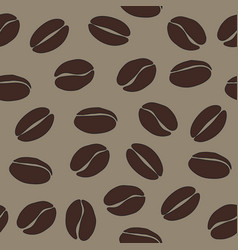brown coffee beans on beige background seamless vector image