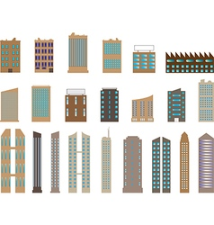 Buildings and skyscrapers vector image