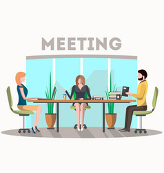 Business meeting in conference room vector