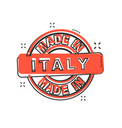 cartoon made in italy icon in comic style italy vector image
