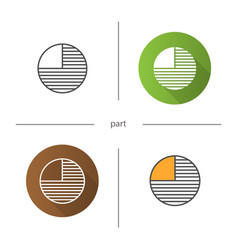 Circle diagram with missing part icon vector