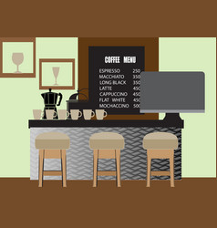 coffee shop for web design background vector image