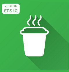 Coffee tea cup icon in flat style coffee mug with vector