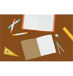 Concept of high school object and college vector