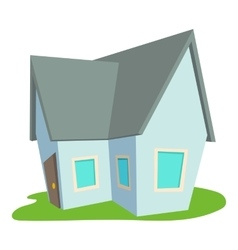 Cottage icon cartoon style vector