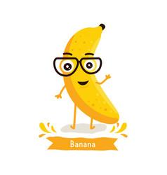 cute banana character vector image