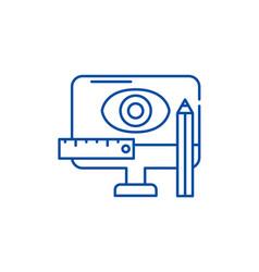 design methodology line icon concept design vector image