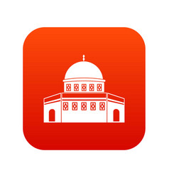 Dome of the rock on the temple mount icon digital vector