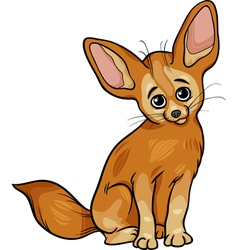 fennec fox animal cartoon vector image
