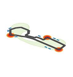 flat isometric circuit vector image
