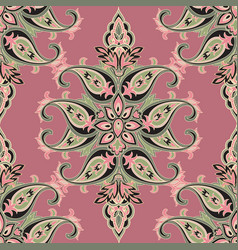 Flourish orient pattern floral seamless background vector