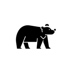 formosan bear black glyph icon vector image