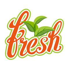 fresh sigh healthy life handmade vector image