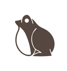frog side view cartoon graphic vector image