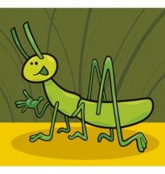 funny grasshopper vector image
