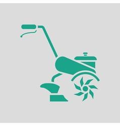 Garden tiller icon vector image
