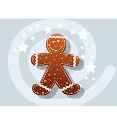 Gingerbread Cookie icon christmas vector image