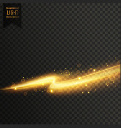 Golden light streal transparent light effect vector