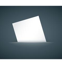 Hidden paper card vector