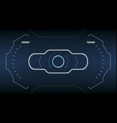 hud screen display futuristic technology vector image