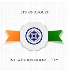 India Independence Day patriotic Label vector image